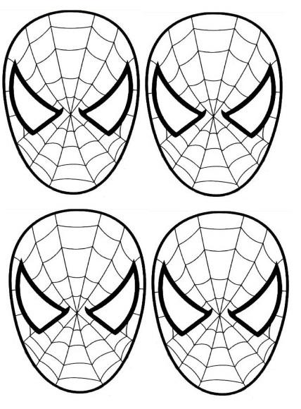 Gabarit spiderman - Coloriage spectacular spiderman ...